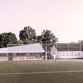 Stegreif: Neubau eines Funktionsgebäudes am Sportplatz in WI-Bierstadt